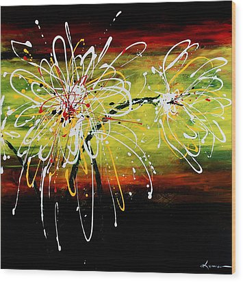 Sunset Flowers Wood Print by Kume Bryant