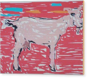 Sunset Goat Wood Print by Jay Manne-Crusoe