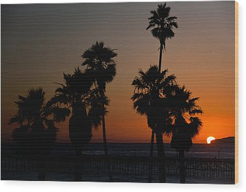 sunset in Califiornia Wood Print by Ralf Kaiser