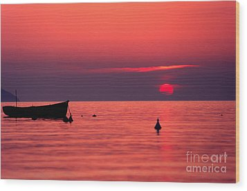Wood Print featuring the photograph Sunset In Elba Island by Luciano Mortula