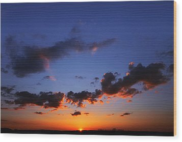 Sunset In Ithaca New York Wood Print by Paul Ge