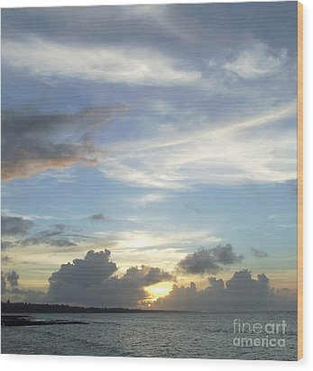 Wood Print featuring the photograph Sunset In Majuro by Andrea Anderegg