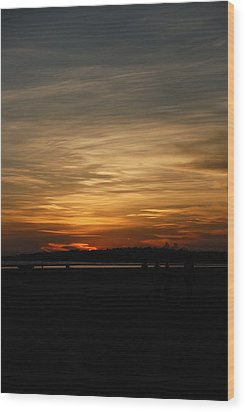 Wood Print featuring the photograph Sunset In Pastels by Fotosas Photography