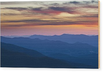 Sunset In Shenandoah National Park Wood Print by Pierre Leclerc Photography