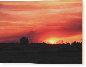 Wood Print featuring the photograph Sunset by Johanna Bruwer