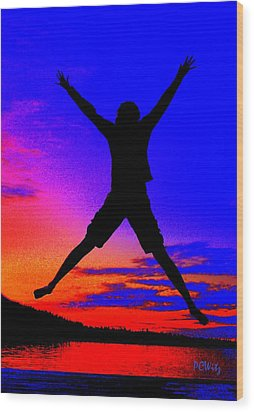 Sunset Jubilation Wood Print by Patrick Witz