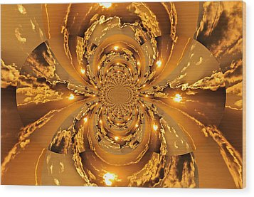 Sunset Kaleidoscope 4 Wood Print by Marty Koch