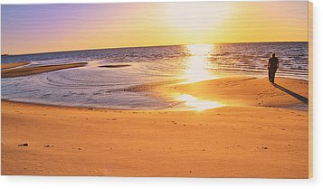 Wood Print featuring the photograph Sunset by Kelly Reber