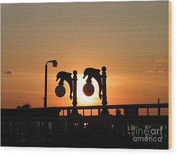 Sunset Lamps R Wood Print by Laurence Oliver