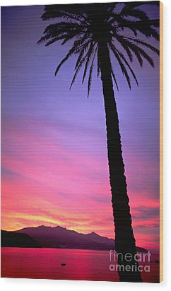 Wood Print featuring the photograph Sunset by Luciano Mortula