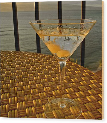 Sunset Martini In Maui I Wood Print by Kirsten Giving