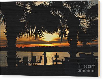 Sunset Memories Wood Print by Benanne Stiens