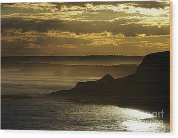 Wood Print featuring the photograph Sunset Mist by Blair Stuart