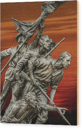 Sunset Of The Confederacy Pickett's Charge Wood Print by Randy Steele