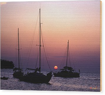 Wood Print featuring the photograph Sunset Off Simonton Street 14e by Gerry Gantt