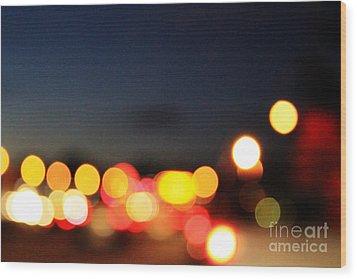 Sunset On The Golden Gate Bridge Wood Print by Linda Woods