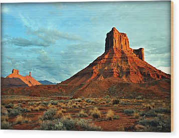 Sunset On The Mesa Wood Print by Marty Koch
