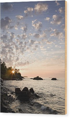 Sunset On The South Shores Of Lake Wood Print by Susan Dykstra