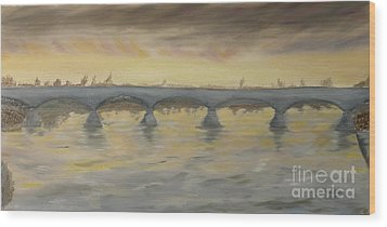 Sunset On The Ticino - Homage To Turner Wood Print by Nicla Rossini