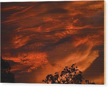 Wood Print featuring the photograph Sunset Over Altoona by DigiArt Diaries by Vicky B Fuller