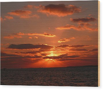 Wood Print featuring the photograph Sunset Over Key West by Jo Sheehan