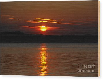 Sunset Over Silver Lake Sand Dunes Wood Print by Grace Grogan