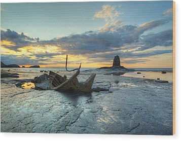 Sunset Over The Admiral Wood Print by Martin Williams