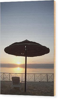 Sunset Over The Dead Sea Wood Print by Taylor S. Kennedy
