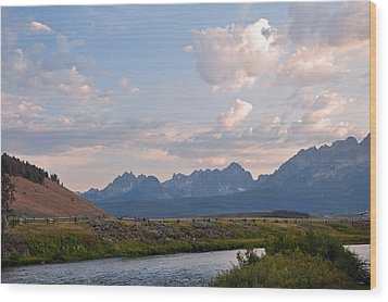 Sunset Over The Salmon River Wood Print
