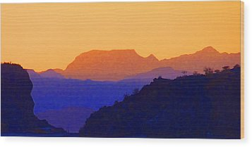 Sunset Over The Sierra Gigantes Wood Print
