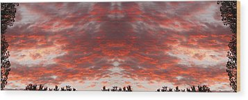 Sunset Panorama Psychedelic Trance Wood Print by James BO  Insogna
