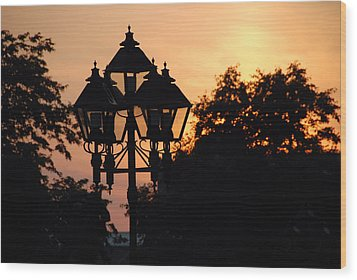 Wood Print featuring the photograph Sunset Place Vouquelin by John Schneider