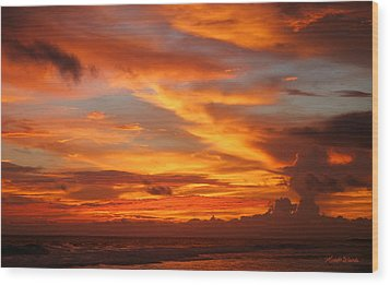 Sunset Playa Hermosa Costa Rica Wood Print by Michelle Wiarda
