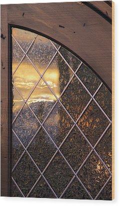 Sunset Projection Wood Print by Viktor Savchenko