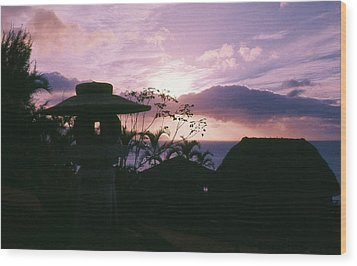 Wood Print featuring the photograph Sunset Pupukea Oahu by Craig Wood