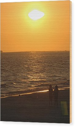 Sunset Wood Print by Ronald T Williams