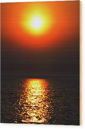 Wood Print featuring the photograph sunset Santorini Greece by Colette V Hera  Guggenheim