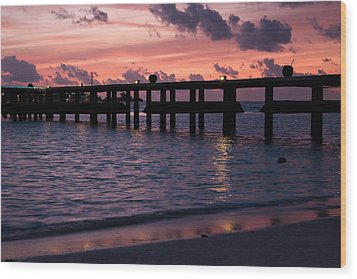 Wood Print featuring the photograph Sunset by Shirley Mitchell