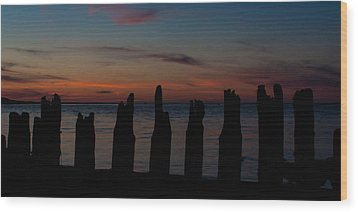 Sunset Silhouette Wood Print by Matt Dobson
