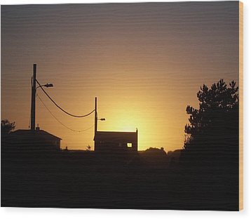 Wood Print featuring the photograph Sunset Silhouette by Peter Mooyman