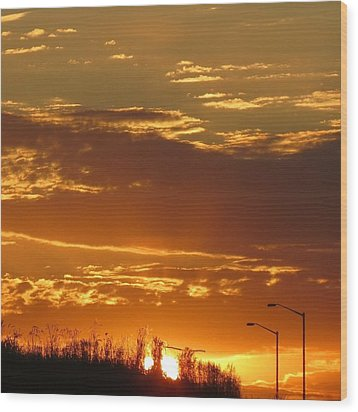Wood Print featuring the photograph Sunset Skies by Nikki McInnes