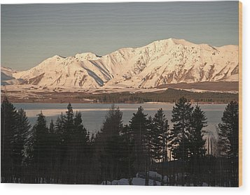 Sunset Snow Wood Print by Graeme Knox