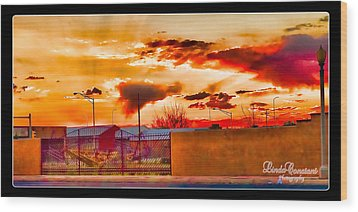 Wood Print featuring the photograph Sunset Station by Linda Constant