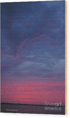 Wood Print featuring the photograph Sunset Surprise by Tannis  Baldwin