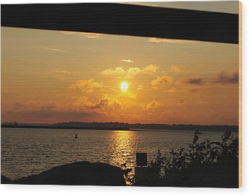 Wood Print featuring the photograph Sunset Through The Rails by Michael Frank Jr
