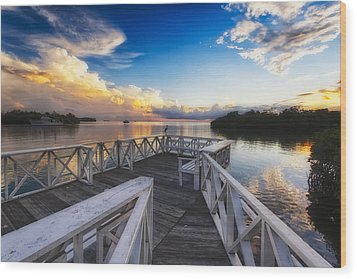 Sunset To Relax Wood Print by George Oze