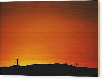 Sunset Towers Wood Print by Michael Courtney