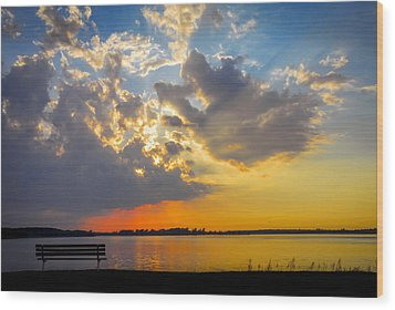 Sunset Wood Print by Travis MacDonald