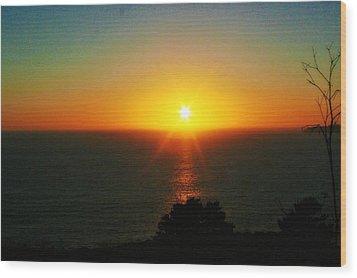 Sunset View Wood Print by Alma Yamazaki