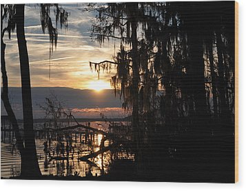 Sunset View Wood Print by Tiffney Heaning